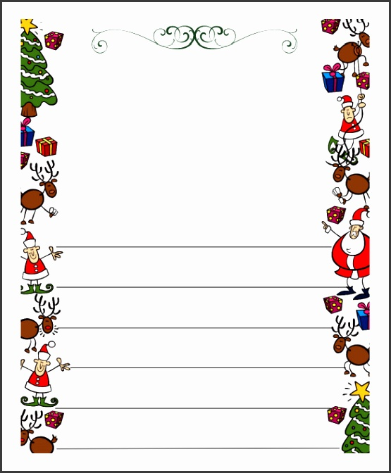 Blank Letter Template Christmas Letter Template 9 Free Word Pdf Documents Download