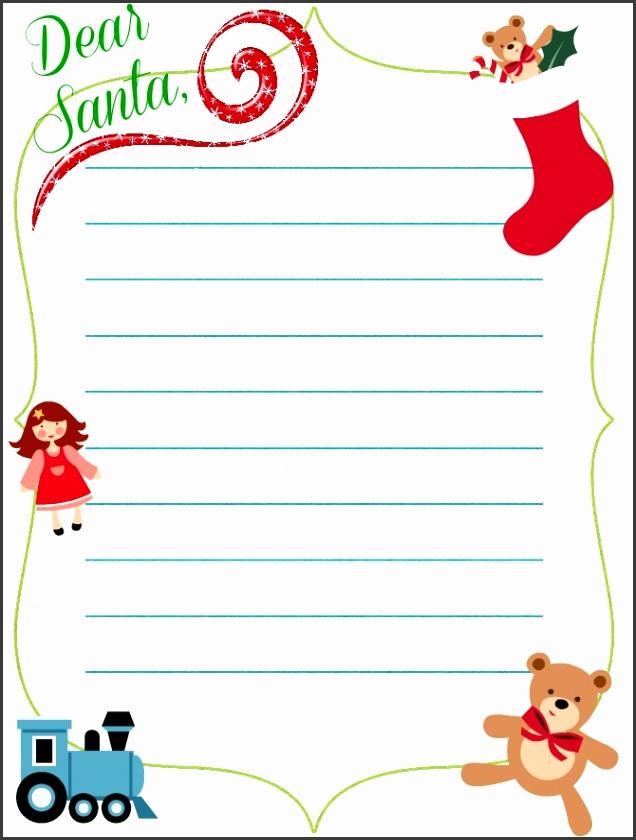 Santa Christmas Letter Templates Free