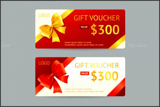 Vector Gift Voucher Template Download