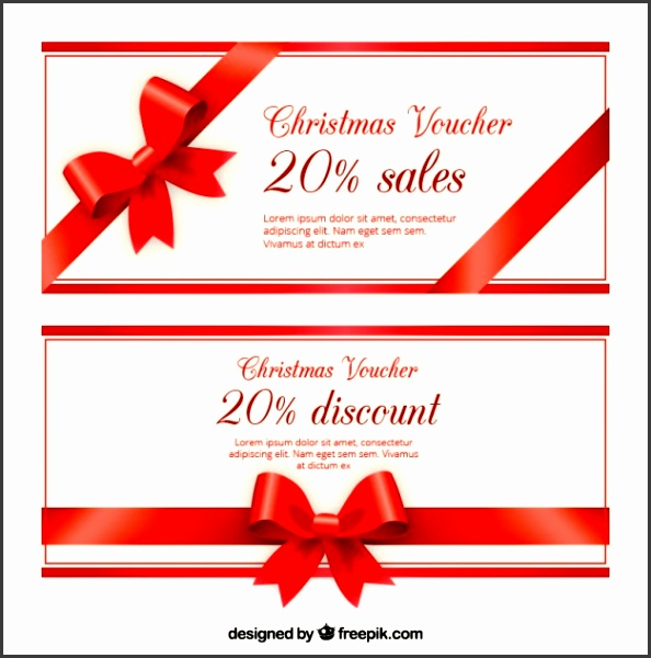 Christmas Voucher Discount Template Pack Free Vector