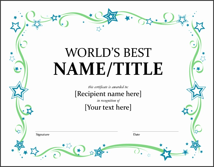 5 Citizenship Award Template Sampletemplatess Sampletemplatess