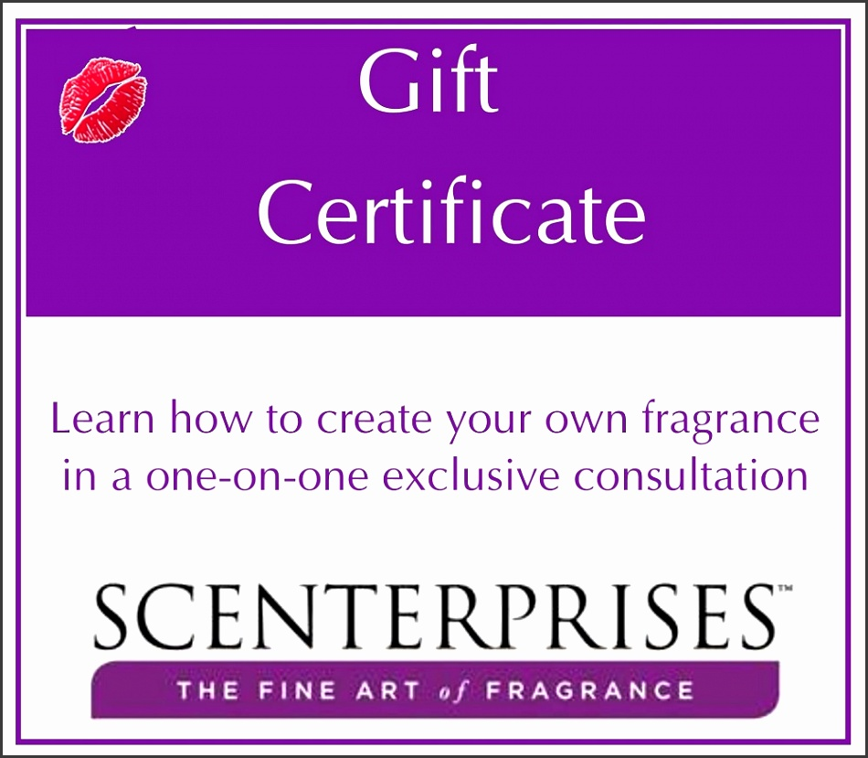 certificate gift own create fragrance consultation exclusive certificates sampletemplatess