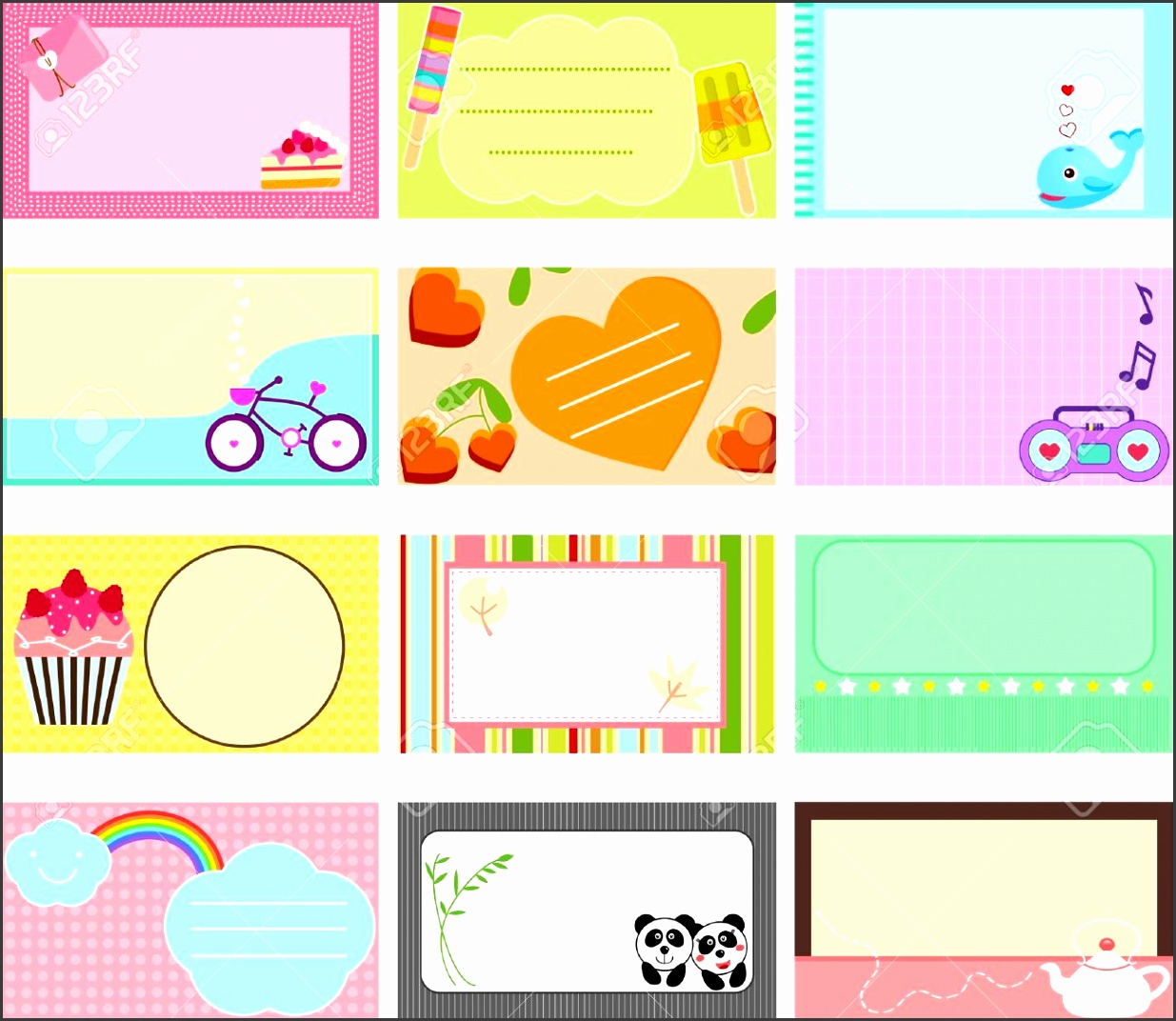 8 cute label templates - sampletemplatess