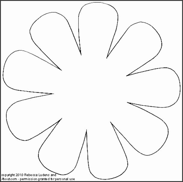 6 daisy flower petal template