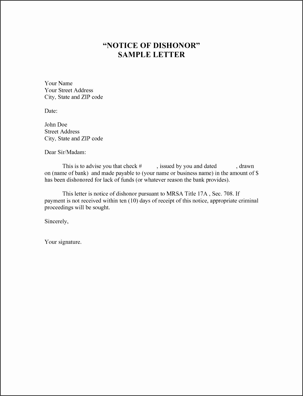 Notice of Demotion Letter Sample