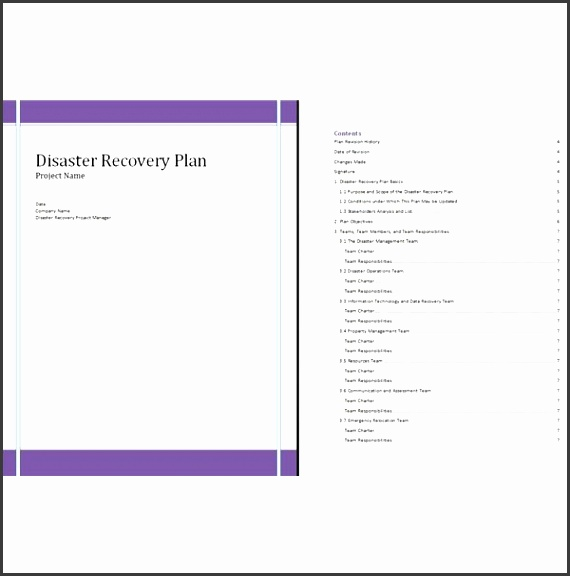 This disaster recovery plan template makes creating a disaster recovery plan easy
