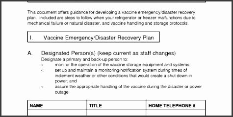 Disaster Recovery Plan Template Luxury Business Continuity and Disaster Recovery Plan Template