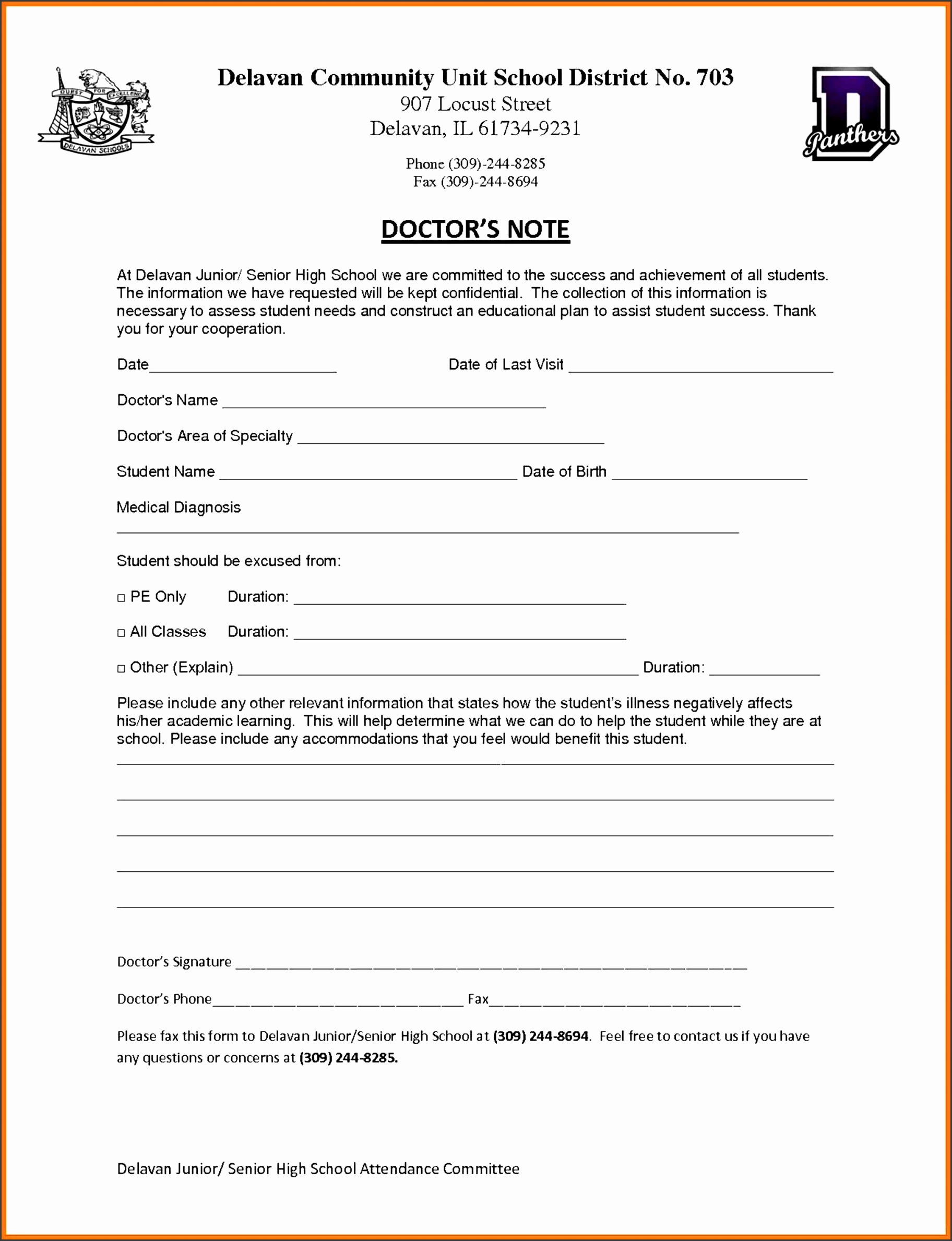 sample doctors note for school printable avid cornell