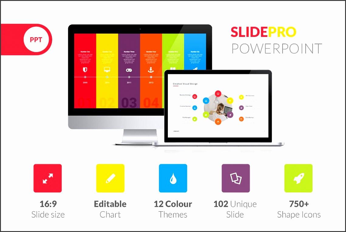 SlidePro Powerpoint Presentation Presentation Templates Creative Market