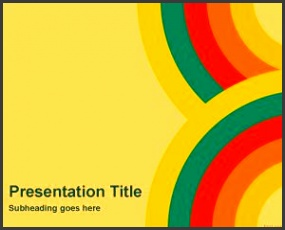 Color Wallpaper PowerPoint Template · Download Abstract