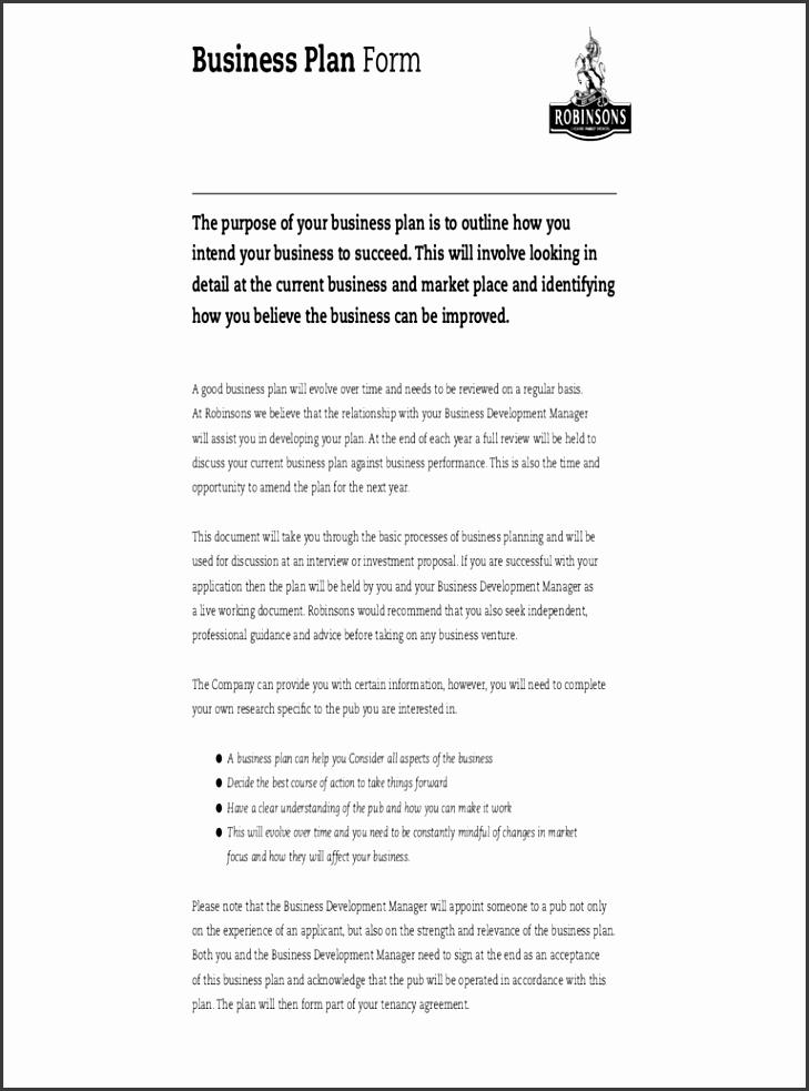 basic business plan template free
