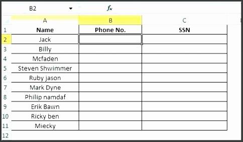 phone list template excel – topbumpub