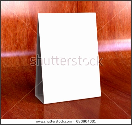 Tablet Tent Talkers Promotional Menu cards white blank Empty for mock up design and templates 3d
