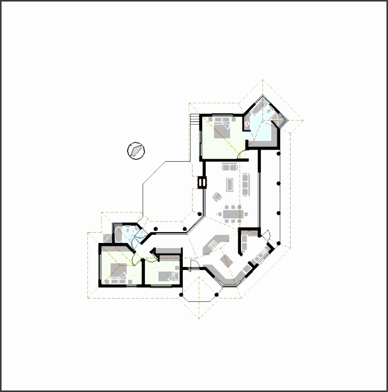 House floor plan templates in PDF or AutoCAD DWG