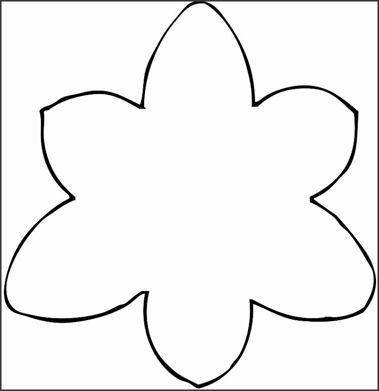 Printable Flower Petal Template