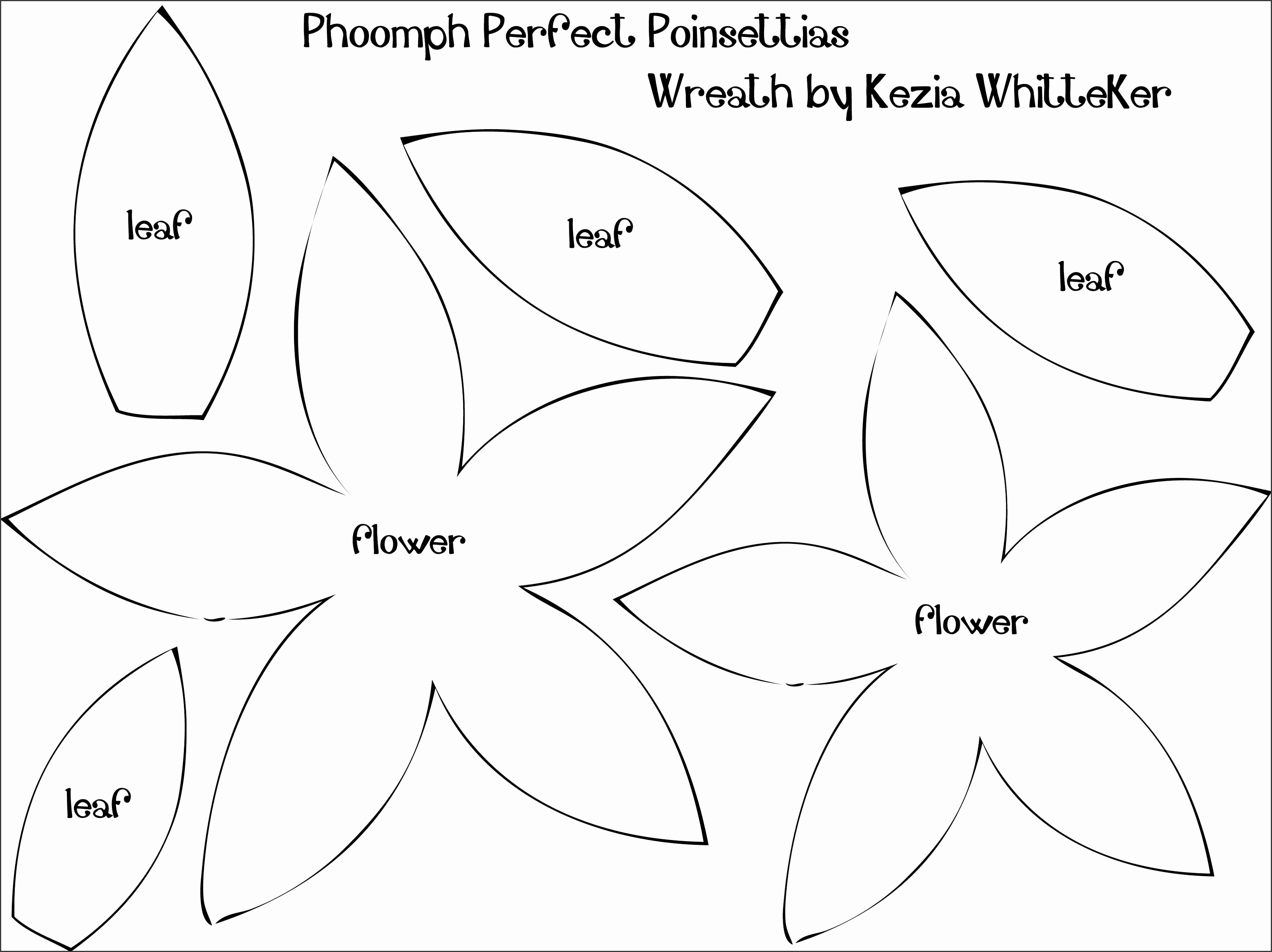 9 Best of Poinsettia Flower Template Printable Paper Poinsettia Petal Template Flower Shape Cut Out Template and Template for Felt Poinsettia