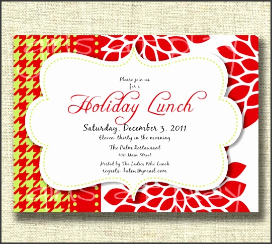 Invitations For Lunch Toretoco Holiday Luncheon Invitation