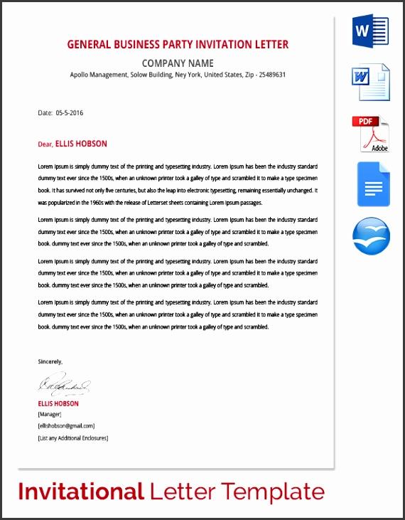 church invitation letter sample