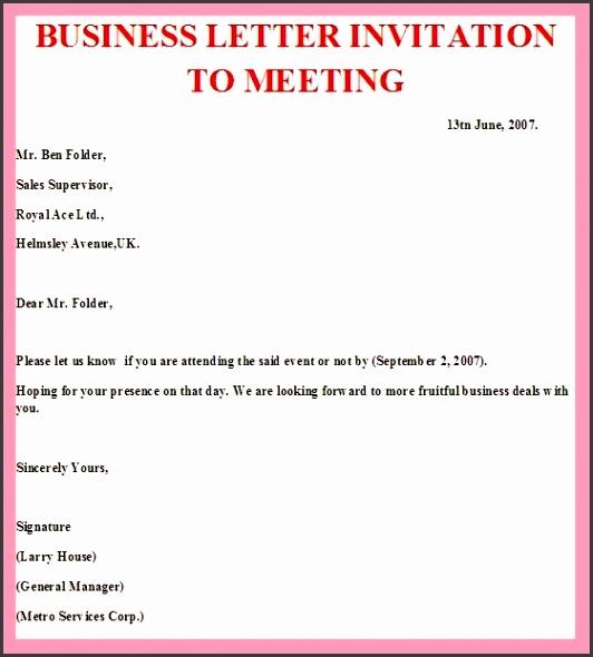 9 formal meeting invitation sampletemplatess sampletemplatess formal business invitation template business dinner invitation business meeting invitation template stopboris Image collections