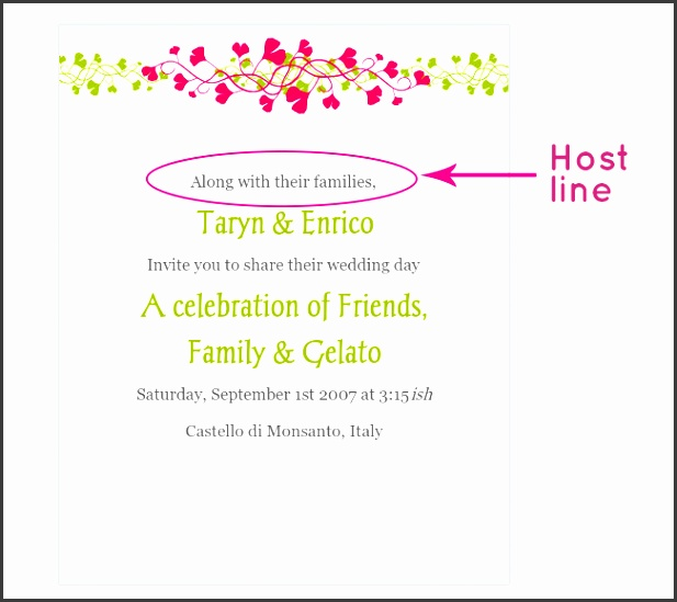 glosite electronic wedding invitation host line