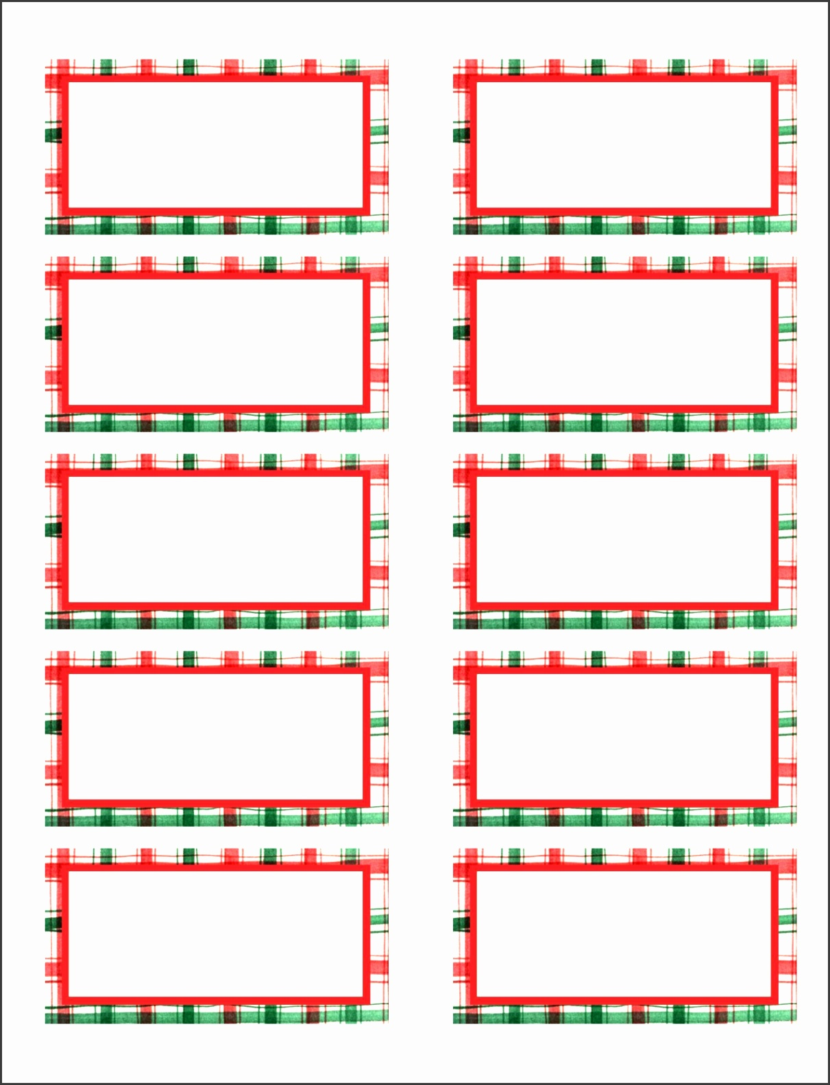 Christmas Mailing Labels Template Word 2017