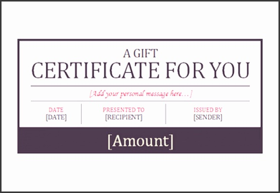 Free Word Format Hotel Gift Certificate Template Download
