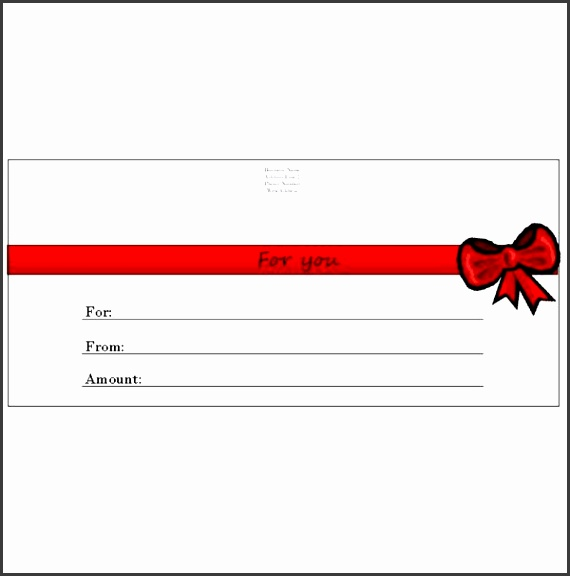 Red Bow Gift Certificate capture