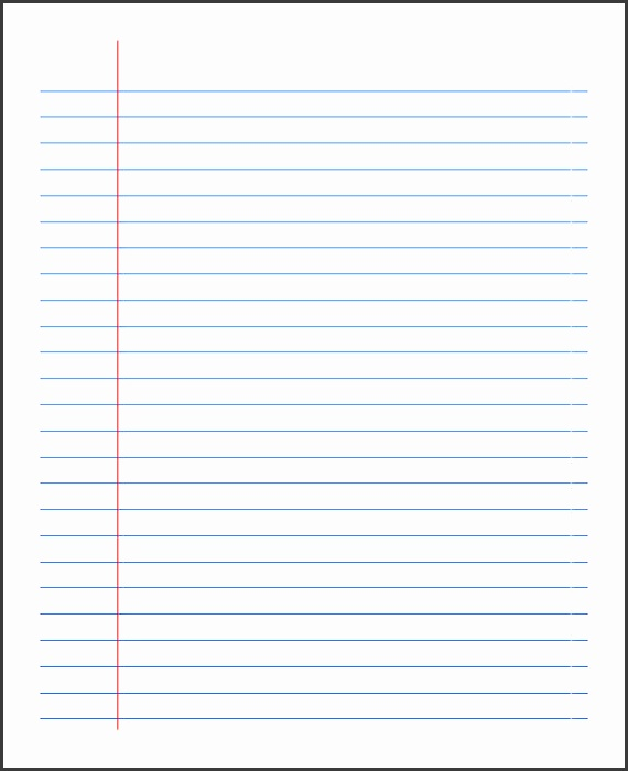 Printable Wide Ruled Notebook Paper