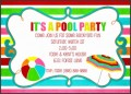 8  Free Pool Party Invitation Template
