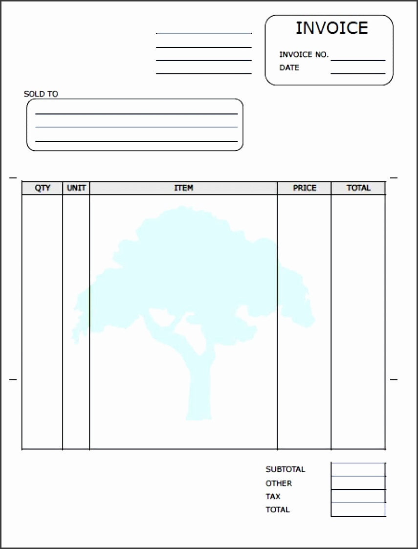 9 free printable invoice templates