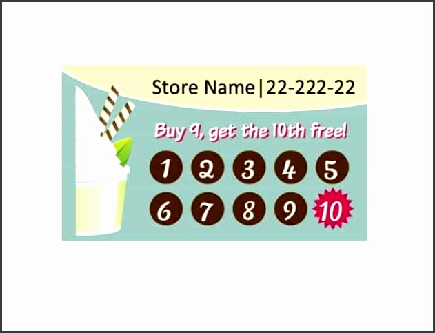 9 free printable punch card template