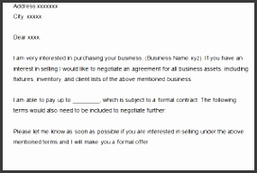 Business Proposal Letter Template
