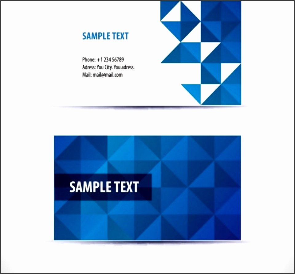 Blank Business Sample Business Card Templates Free Download For Word DY930