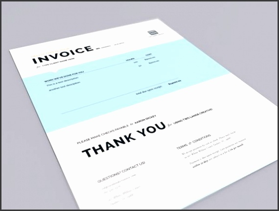 Two Lands Creative Invoice by Aaron Dickey