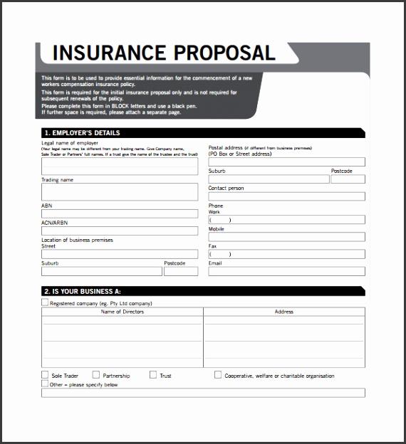 Business Insurance Proposal Template