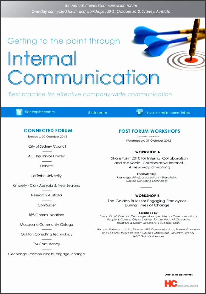 9 internal communication plan template