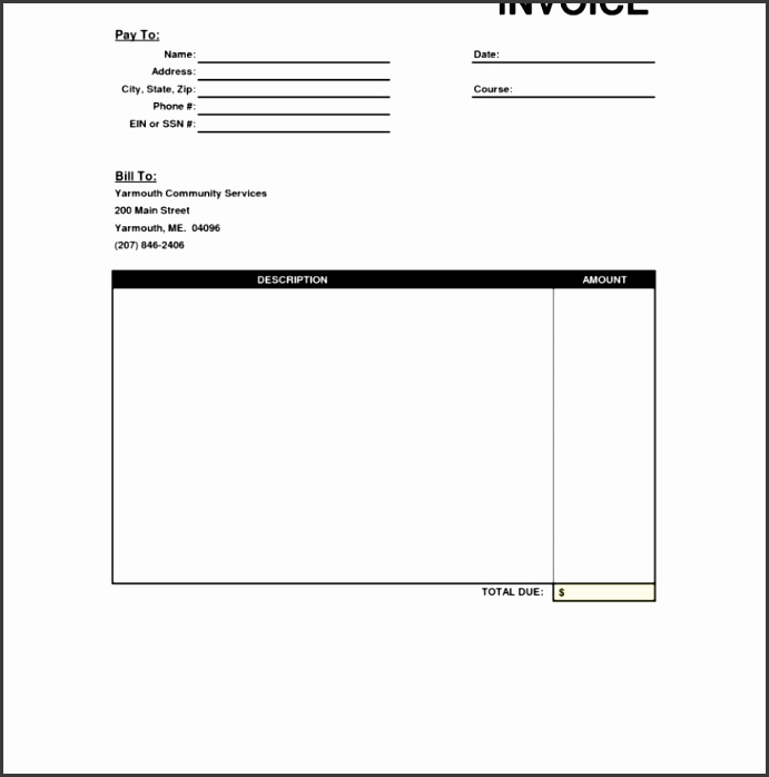 Permalink to Blank Invoice Template Free