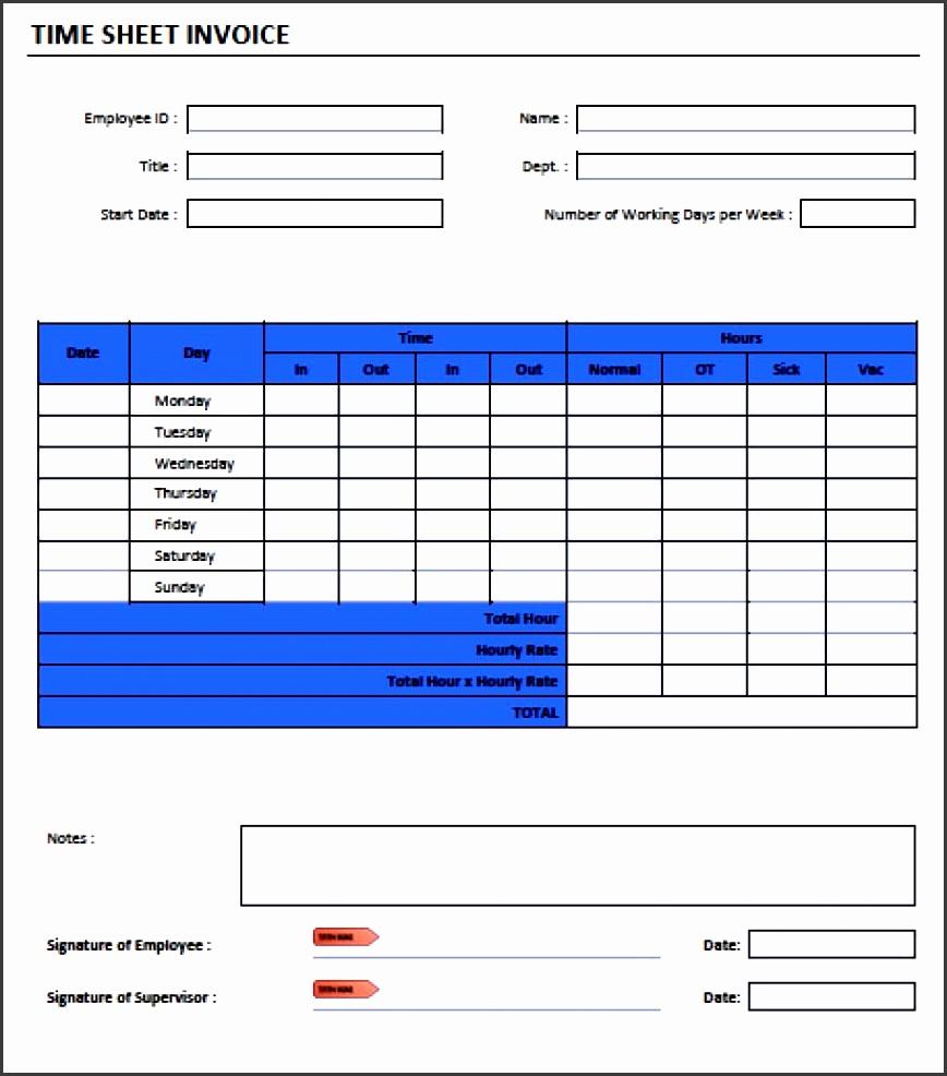 Timesheet Invoice