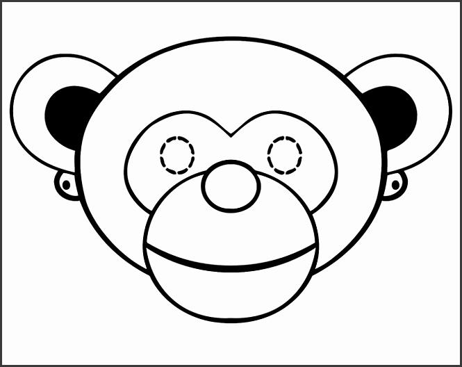7 kids monkey mask templates sampletemplatess sampletemplatess