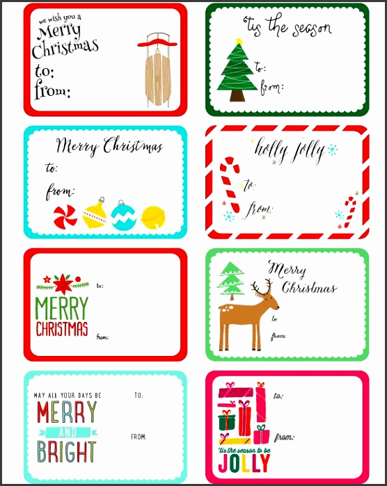 Free Printable Christmas Label Templates by Angie Sandy Design & Illustration in a whimsical design