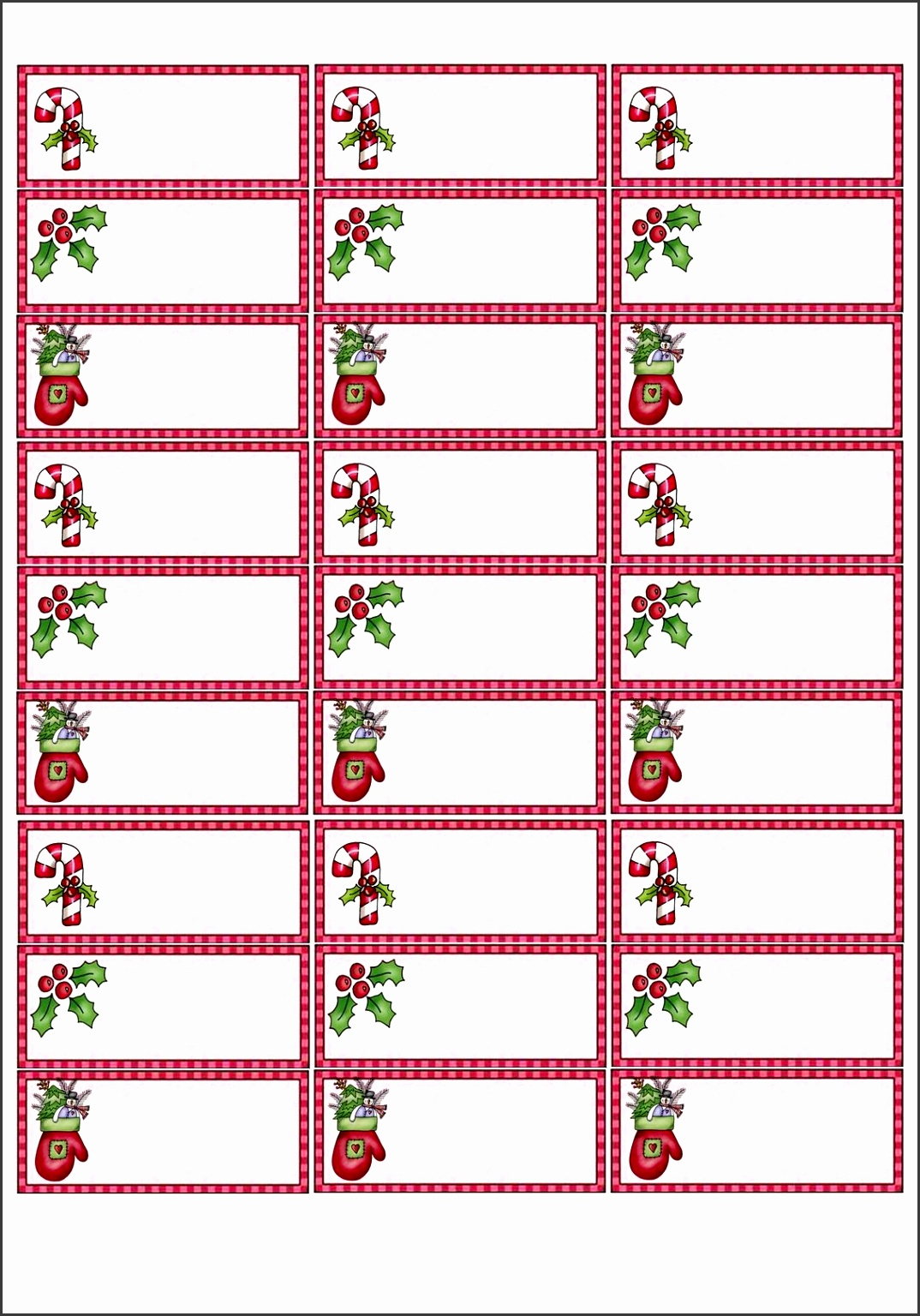 Copy 2 of red christmas labels
