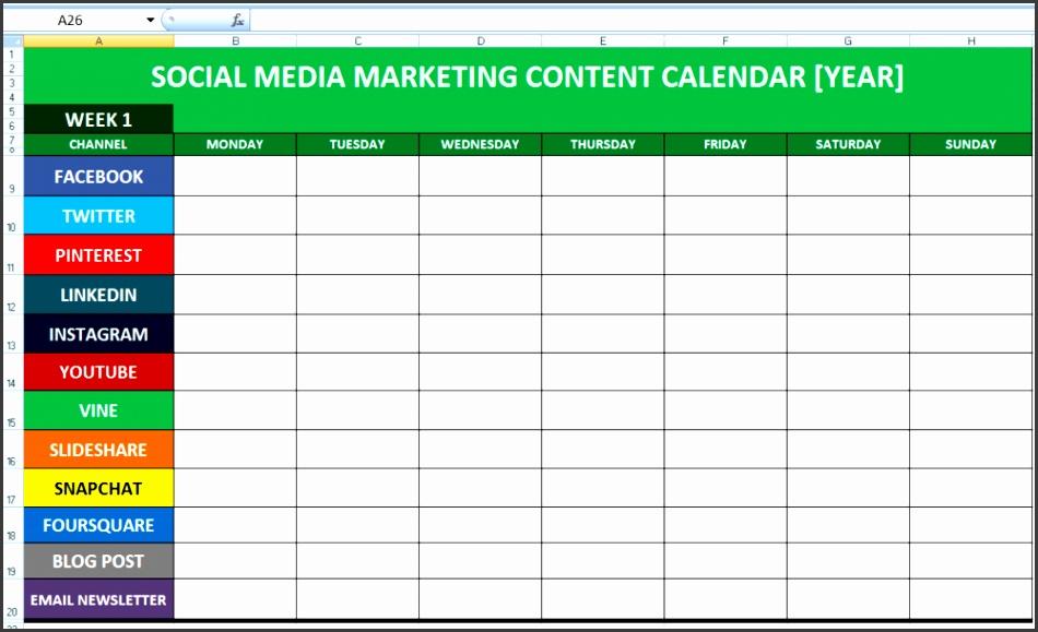 Social Media Calender Template Excel 2014 Editorial Planner for Social Media — Social Media Marketing Tips Social Media Swansea Wales