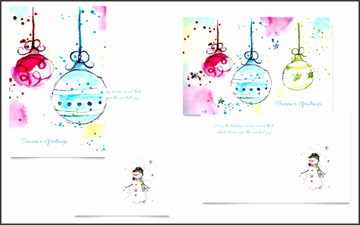 word greeting card template whimsical ornaments greeting card template word publisher Best
