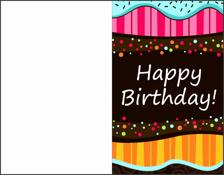 Foldable Birthday Card Template Birthday Card Template Exolgbabogadosco