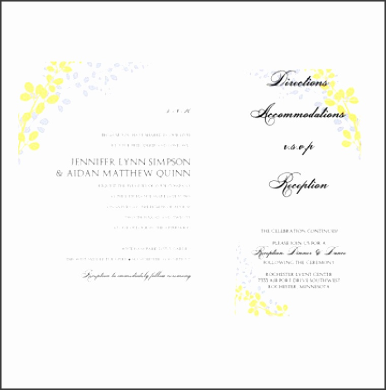 Microsoft Word Wedding Invitation Template Wedding Invitation Invitation templates