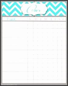 free printable chore charts blank