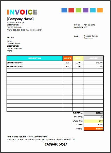 House Painting Invoice For Excel Excel Invoice Templates Painting Invoice