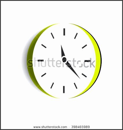 Vector paper cut out clock element Notch out watch illustration Creative concept Alarm