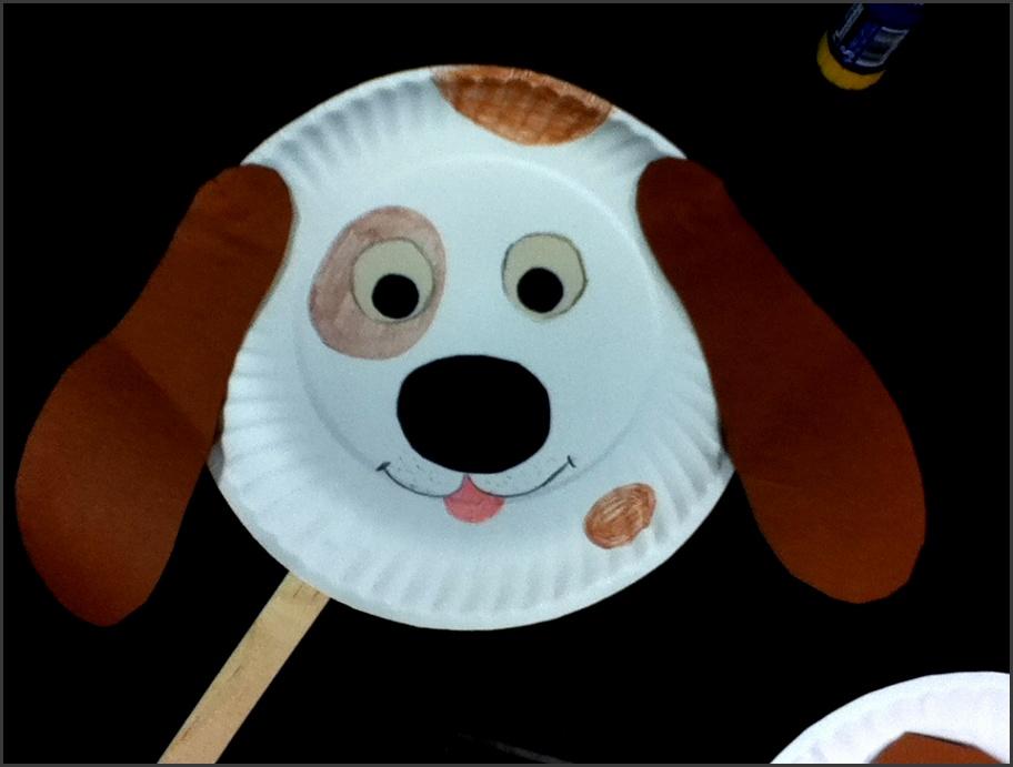 Animal crafts · Paper plate craft doggie mask