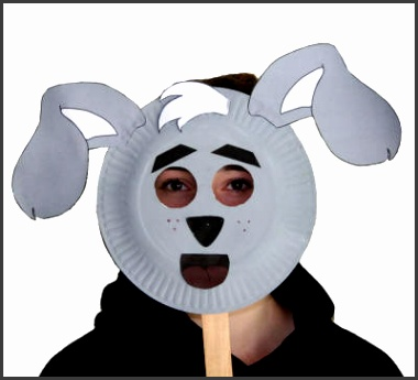 dragon paper plate mask